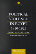 Political Violence in Egypt, 1910-1924