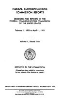 Federal Communications Commission Reports  Decisions and Reports of the Federal Communications Commission of the United States