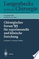 Chirurgisches Forum    95 f  r experimentelle und klinische Forschung