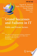 Grand Successes And Failures In It Public And Private Sectors Book PDF