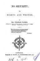 No Security Or Rights And Wrongs Book PDF