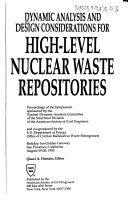 Dynamic Analysis and Design Considerations for High level Nuclear Waste Repositories