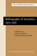Bibliography of Semiotics, 1975-1985