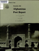 Afghanistan  Post Report
