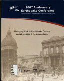 100th Anniversary Earthquake Conference