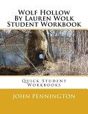 Wolf Hollow by Lauren Wolk Student Workbook Book