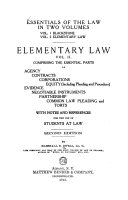 Essentials Of The Law Elementary Law With Notes And References For The Use Of Students At Law Book PDF