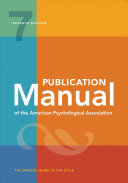 Publication Manual of the American Psychological Association (2020)