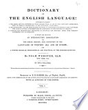 A Dictionary of the English Language ... to which are Prefixed an Introductory Dissertation on the Origin, History, and Connection of the Languages of Western Asia and of Europe Pdf/ePub eBook