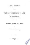 Annual Statement of the Trade and Commerce of Saint Louis for the Year Book
