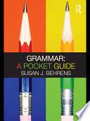 Grammar A Pocket Guide