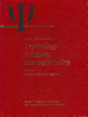 Handbook of Psychology, Religion, and Spirituality