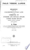 Hearings  Reports and Prints of the Senate Committee on Interior and Insular Affairs Book PDF