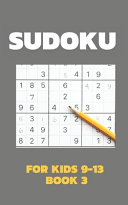Sudoku For Kids 9 13 Book 3