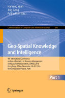 Geo Spatial Knowledge and Intelligence