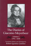 The Diaries of Giacomo Meyerbeer  1791 1839