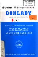 Soviet Mathematics   Doklady