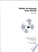 Boundary and Annexation Survey