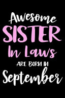 Awesome Sister In Laws Are Born In September Book PDF