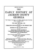 The Early History of Jackson County  Georgia