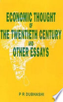 Economic Thought Of The Twentieth Century And Other Essays