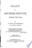 Diary of a Southern Refugee