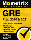 GRE Prep 2020 and 2021   GRE Secrets Study Book  Full Length Practice Test  Detailed Answer Explanations
