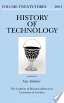 History Of Technology Volume 23
