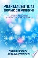 Pharmaceutical Organic Chemistry-Iii