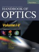 Handbook of Optics Third Edition, 5 Volume Set