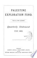 Palestine Exploration Fund Book PDF