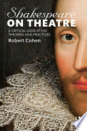 Shakespeare On Theatre Book