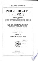 Public Health Reports Book