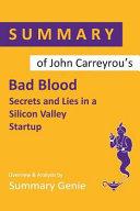 Summary of John Carreyrou s Bad Blood