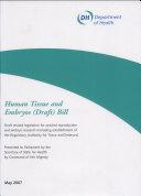 Pdf Human Tissue and Embryos (draft) Bill