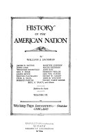 History of the American Nation Book