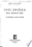 Poesía española del siglo xx
