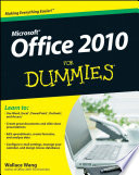 Office 2010 For Dummies Book