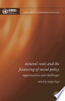 Mineral Rents and the Financing of Social Policy