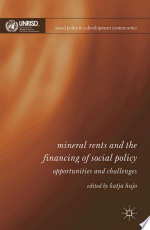 [pdf - epub] Mineral Rents and the Financing of Social Policy - Read eBooks Online