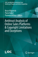 Antitrust Analysis of Online Sales Platforms & Copyright Limitations and Exceptions Pdf/ePub eBook