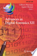 Advances in Digital Forensics XII Book