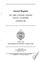 Annual Register of the United States Naval Academy