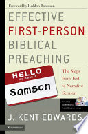 Effective First Person Biblical Preaching