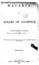 Macaria  Or  Altars of Sacrifice