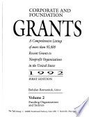 Corporate and Foundation Grants  , Volume 2