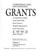 Corporate And Foundation Grants Book PDF