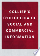 COLLIER S CYCLOPEDIA OF SOCIAL AND COMMERCIAL INFORMATION