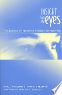 Insight from the Eyes  : The Science of Effective Reading Instruction