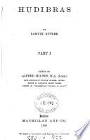Hudibras Pt 1 3 Ed By A Milnes
